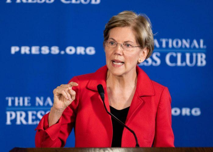 Wall Street critic, Warren, promises to break up Amazon, Facebook, Google