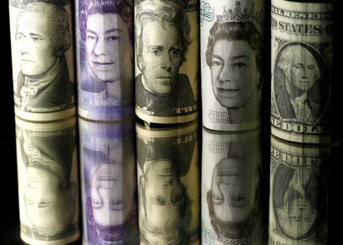 Sterling gains against dollar, little changed elsewhere