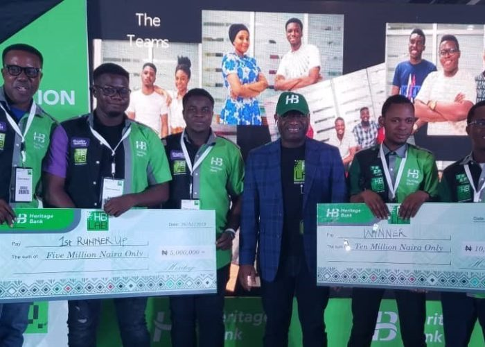 Two tech startups win N15m grant from Heritage Bank