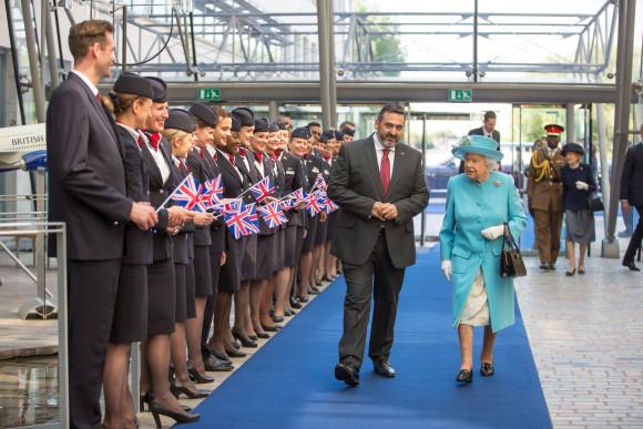 Queen at British Airways