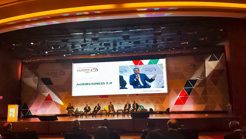 Mr Nuradin Osman_AGCO Vice President and General Manager, AFRICA_speaking at the Agribusiness 2.0 Plenary Session of the 12th US-Africa Business Summit in Maputo, Mozambique