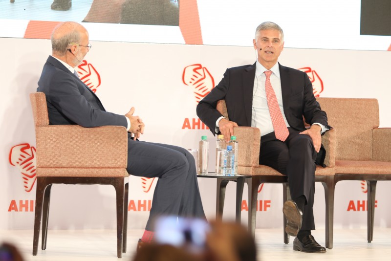 Chris Nassetta, Hilton CEO, speaking at AHIF