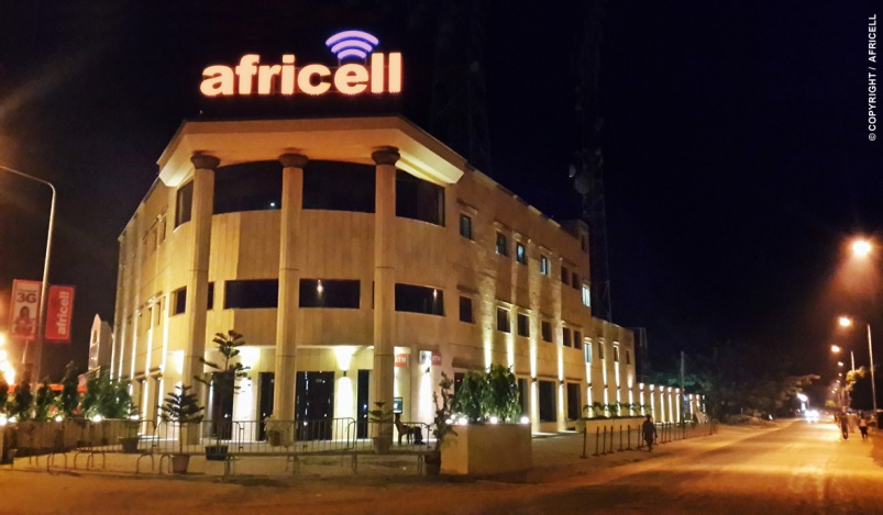africell-building-night-time